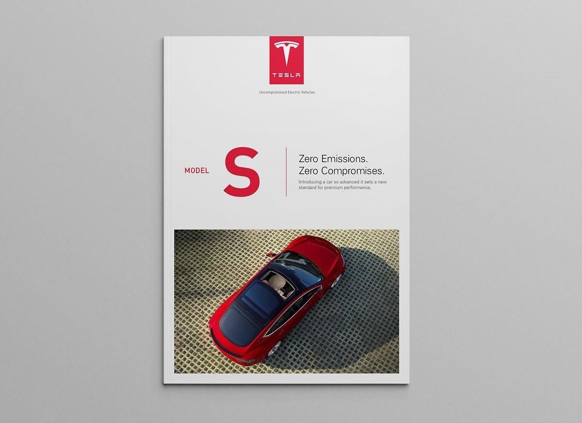 【画册】特斯拉汽车模型概念信息画册设计
