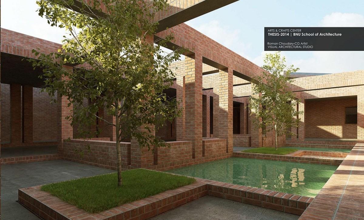 【建筑】红砖建筑打造出新东方式空间-中国设计网