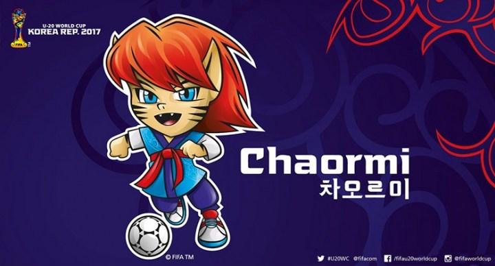 """韩国2017年u20世界杯吉祥物""""chaormi""""发布"""
