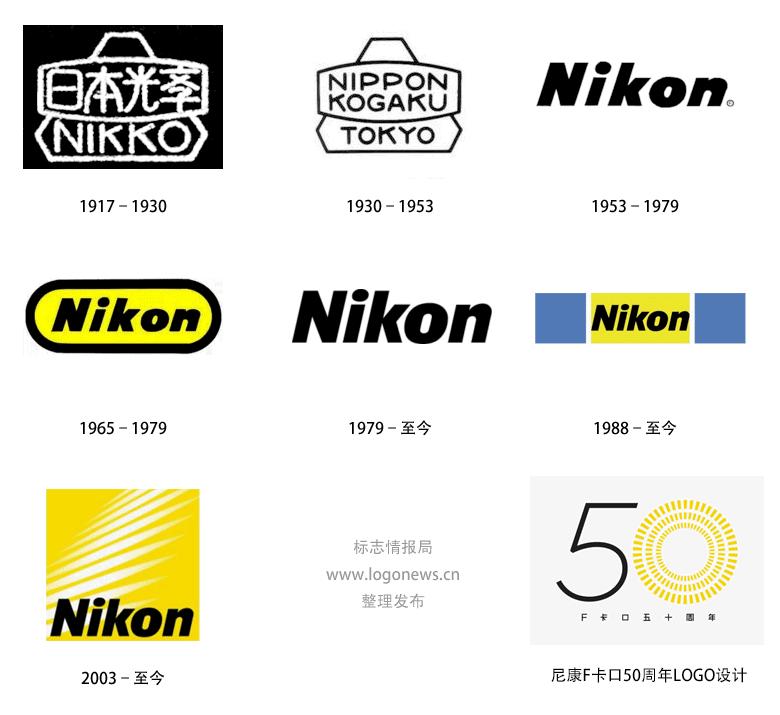 尼康正式发布100周年纪念logo-中国设计网